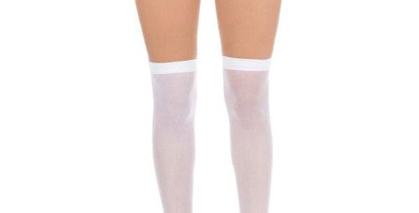 Stockings White Over Knee