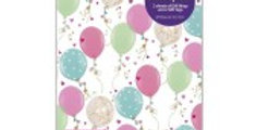 Blue/pink Balloons Packed Wrap H69 X W49 Cm2 sheets of gift wrap & 2 gifts tag