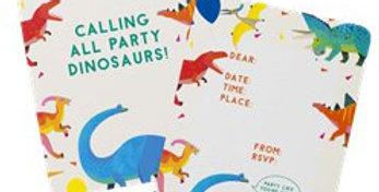 Little Party Dino Invitations (8pk)