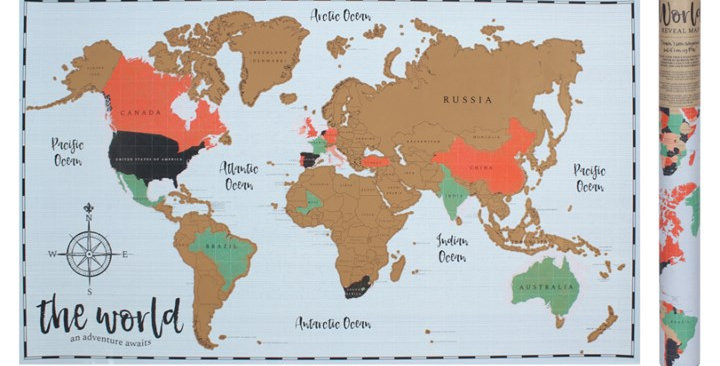 ADVENTURE AWAITS REVEAL MAP 54.5cm x 86.5