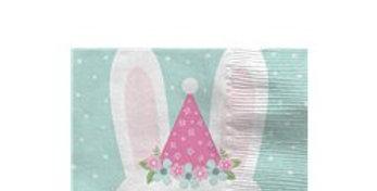 Birthday Bunny Hat Beverage Napkin (16pk)