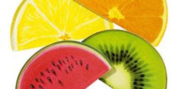 Tropical Fiesta Fruit Slice Plates - 23.5cm (12pk)