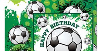 Football Gift Wrapping Pack - Card, Paper & Tags (2pk )