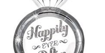 "Happily Ever After Ring Supershape Balloon - 27"" Foil (each)"
