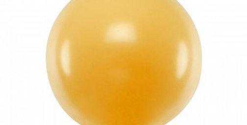 Round Balloon 1m Metallic light pink/ Gold/ Pearl