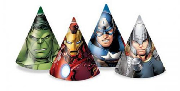 Avengers Party Cone Hats (6pk)
