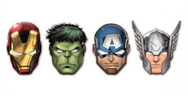 Mighty Avengers Masks (6pk)