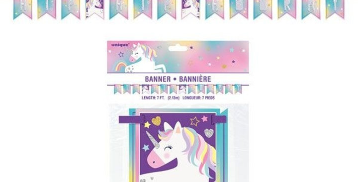 Unicorn Pennant Banner 7Ft 14 Flags