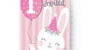 Birthday Bunny Pop Up Invitations (8pk)