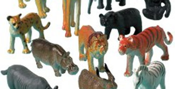 Animal Friends Plastic Jungle Animals (8pk)