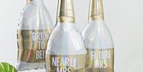 Gold Foiled Champagne Bottle Personalised Hen Party Balloons