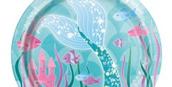 Magical Mermaid Paper Plates - 17cm 8pk