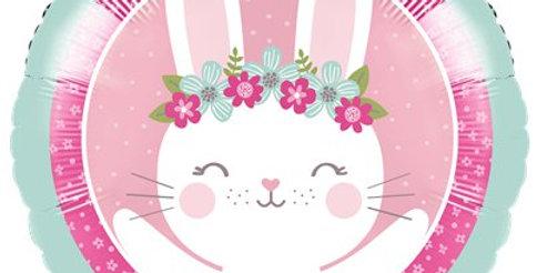 Birthday Bunny Metallic Balloon - 18'' Foil (each)