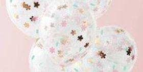 FLORAL CONFETTI BALLOONS - DITSY FLORAL  5pk