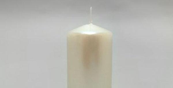 diameter 5cm pearl white candle