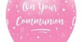 On Your Communion - All Round Print 6Ct pink