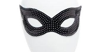 Black Sequin Masquerade Eye Mask (each)