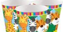 Animal Friends Cups - 266 ml Paper Party Cups (6pk)