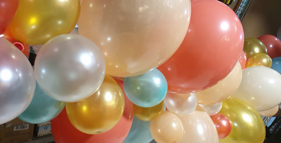 Balloon Garland 4m long ready inflated and delivered