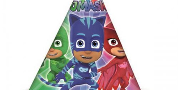 pj mask party hats 6pk