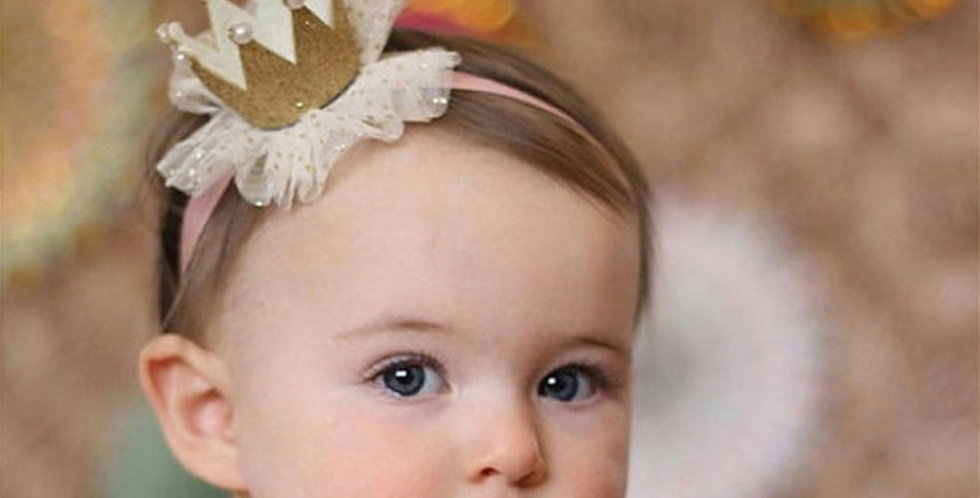 Cute kids crown on elastic band
