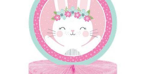 Birthday Bunny Honeycomb Centrepiece (each)