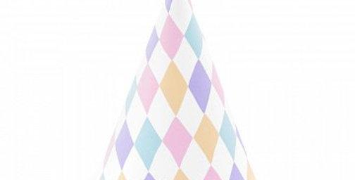 party hats unicorn pastel 6pk