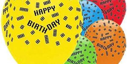 "Block Party Balloons - 12"" Latex (6pk)"