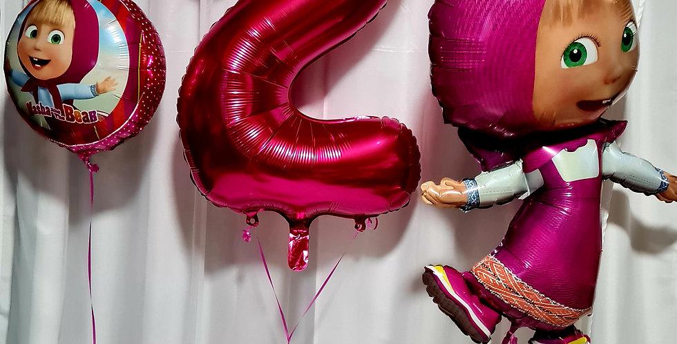 "1 supershape character foil balloon,foil balloon 18"" & number foil balloon incl."