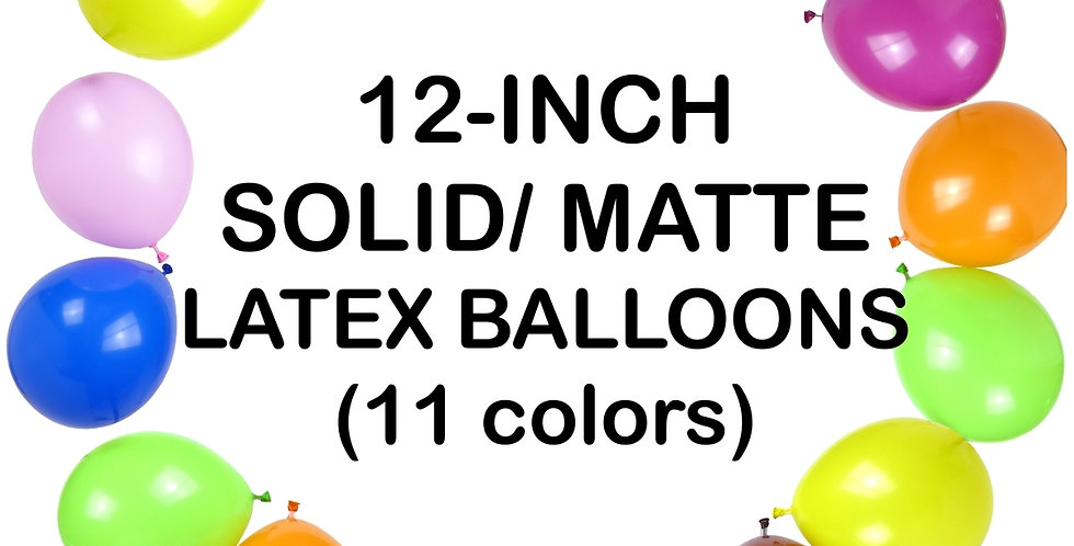 12'' solid colour latex balloons helium quality