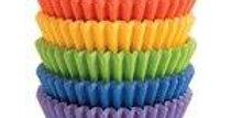 Bright Rainbow Cupcake Cases - 5cm 150pk