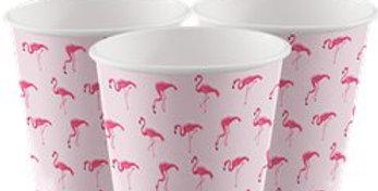 Flamingo Paradise Paper Cups - 250ml (8pk)