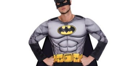 Batman Classic Muscle Chest - Adult Costume includes stretchy jumpsuit wi