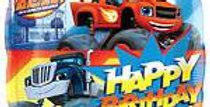 "Blaze Happy Birthday Square Balloon - 18"" Foil (each)"