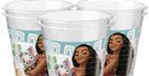 Disney Moana Cups - 200ml Plastic Party Cups (8pk)