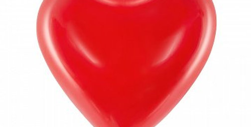 Balloons 16'' Hearts, Pastel red 6pk