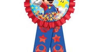 Super Mario Confetti Filled Award Ribbon (each)