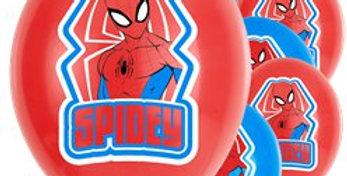 Spiderman 'Spidey' Balloons - 1'' Latex (6pk)