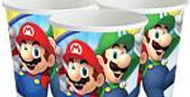 Super Mario Cups - 266ml Paper Party Cups (8pk)