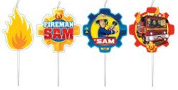 Fireman Sam Mini Candles (4pk)