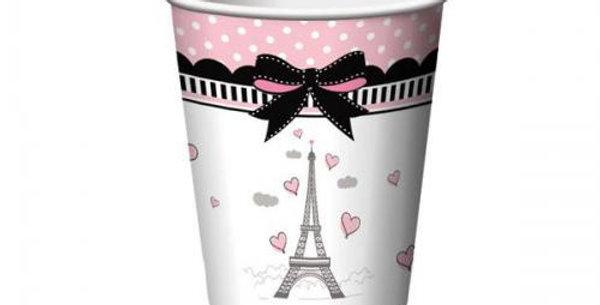 A day in paris paper cups 8pk