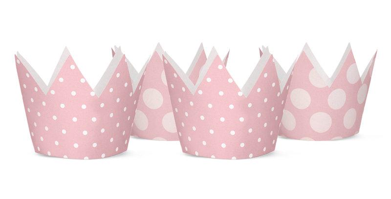Party Crowns, light pink, mix of designs, diameter approx. 10 cm.  4pk.jpg