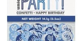 Blue Birthday Glitz Age  Confetti - 14g bag (each)