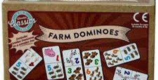 28 WOOD DOMINOES IN BOX