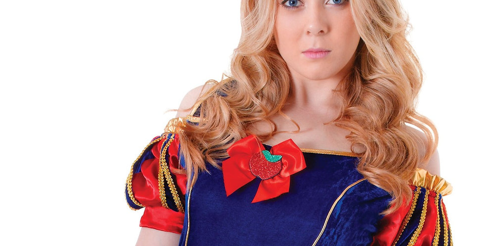 Teen - UK Size 6-10 (28''-30'' chest) Snow white Dress with Underskirt & Ha