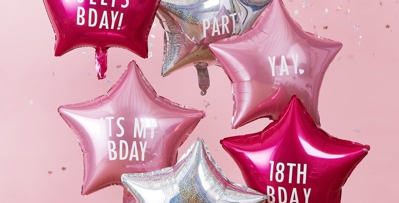 PERSONALISABLE STAR PARTY BALLOONS WITH STICKERS - STARGAZER Our fun foil star b