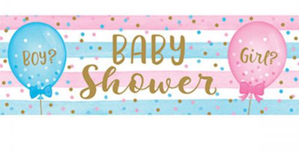 Banner  Baby Shower Gender Reveal with balloon decoration