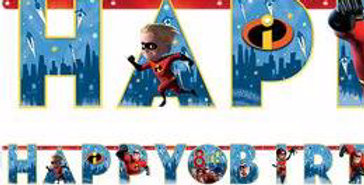 The Incredibles 2 Letter Banner - 3.2m Add an Age Banner (each)