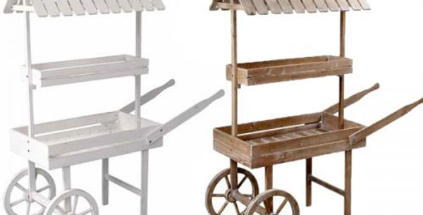 132x50x150cm Natural or white wooden cart by order