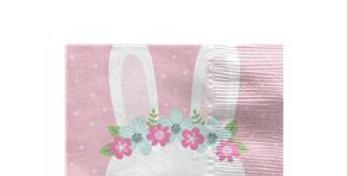 Birthday Bunny Beverage Napkins - 25cm (16pk)
